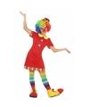 Clown Floppy verkleedjurk voor meisjes 128 (7-9 jaar) Multi
