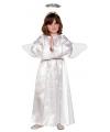 Compleet engelen kostuum voor kinderen 120-130 (7-9 jaar) Wit