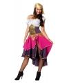Compleet zigeunerin kostuum voor dames 38 (M) Roze