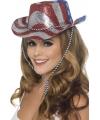 USA glitter feest hoeden