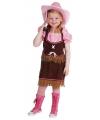 Cowboy kostuum voor meiden 164 Multi