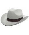 Cowboy hoeden wit volwassenen