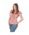 Cowgirl blouse rood/wit voor dames Rood