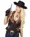 Cowgirl / cowboy kleding vestje voor dames 38 (M) Multi