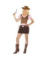 Cowgirl kostuum voor dames M/L (38-40) Multi