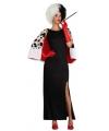 Cruel dames jurk met stola voor dames S (36) Zwart