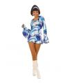 Dames jurk jaren 60 blauw