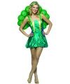 Dames kostuum pauw groen S Groen