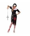 Dames zombie nonnen jurk 36 (S) Multi