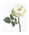 Deluxe kunst roos wit gekleurd