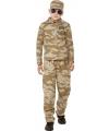 Desert leger pak voor kinderen 115-128 (4-6 jaar) Multi