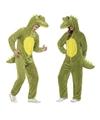 Dieren kostuum krokodil voor volwassenen 40-42 (M) Groen