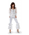 Disco outfit wit met zilver 36 (S) Wit