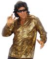 Disco verkleedkleding goud overhemd XL Goudkleurig