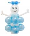 Doe het zelf ballon figuur geboorte jongen