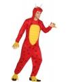 Draken onesie kostuum voor mannen 52 (L) Rood