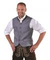 Duitse klederdrachten vest voor heren 58 (2XL) Grijs