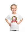 Eenhoorn kerstmis shirt wit voor kinderen M (134-140) Multi