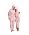 Eenhoorn onesie voor volwassenen wit L/XL (max. 195 cm) Roze