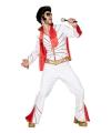Elvis kostuum voor mannen 52 (L) Wit