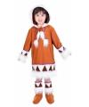 Eskimo outfit voor meiden 7-9 jaar Multi