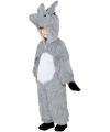 Ezel kostuum voor kinderen 130-143 (7-9 jaar) Grijs