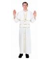 Feest Paus kostuum S Wit
