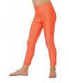 Fel oranje kinder legging 128 Oranje