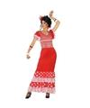 Flamenco danseres jurk rood voor dames XS/S (34-36) Rood