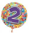 Gekleurde folie ballon 2 jaar