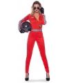Formule 1 kostuum voor dames L/XL (40-42) Rood