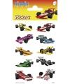 Stickers raceautos 3 vellen