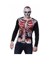 Fotorealistische zombie skelet shirt M/L (50-52) Multi
