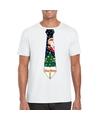 Fout Kerst shirt wit kerstboom stropdas voor heren 2XL Wit
