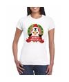 Fout Kerstmis shirt met pinguin print voor dames M Multi