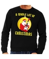 Foute feest kerst sweater zwart A Whole Lot of Christmas voor heren XL (54) Zwart