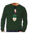 Foute kerst sweater met kerstmis stropdas groen voor heren XL (54) Groen