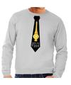 Foute kerst sweater met suck my piek stropdas grijs voor heren M (50) Grijs