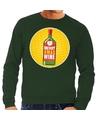Foute kersttrui Merry x-mas Wine groen voor heren M (50) Groen