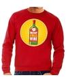 Foute kersttrui Merry x-mas Wine rood voor heren L (52) Rood