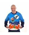Foute kersttrui met verlichting Sleigh Ride Multi