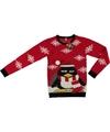 Foute kersttrui pinguin rood voor volwassenen L Rood