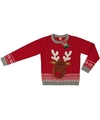 Foute kersttrui rendier rood voor kinderen 104/110 (4/5 jaar) Rood