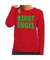 Foute kersttrui rood Kerstengel dames XL (42) Rood