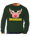 Foute kersttrui / sweater braindeer groen voor heren M (50) Groen