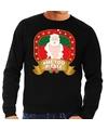 Foute kersttrui zwart horny kerstman Me2 Please heren M (50) Zwart