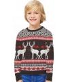 Foute kinder kersttrui Happy Reindeers 7-8 jaar Multi
