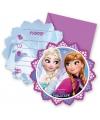 Frozen uitnodigingen met enveloppen