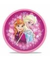 Roze Frozen wandklok 25 cm