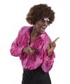 Fuchsia rouche overhemd voor heren XL Roze